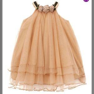 Light Brown Tulle Rosette Dress infant/ toddler